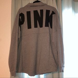 Thin Pullover PINK gray Sweater